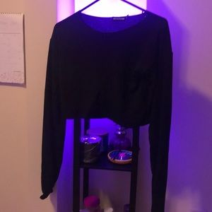 PrettyLittleThing Sweaters - Black zip sweater (Yeezy inspired)